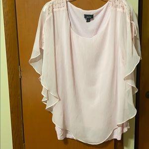 Women's Pink Short Sleeve Alyx Blouse size 2x.